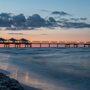Abendstimmung Seebrücke Heringsdorf